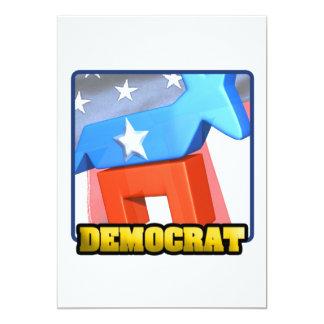 "Democrat 5"" X 7"" Invitation Card"