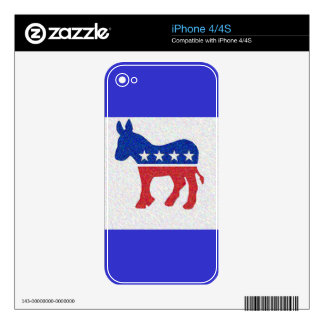 DEMOCRAT iPhone 4 DECALS