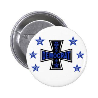 Democrat Iron Cross Button