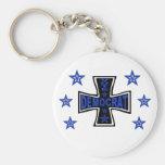 Democrat Iron Cross Keychains