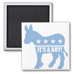 democrat it's a boy square magnets