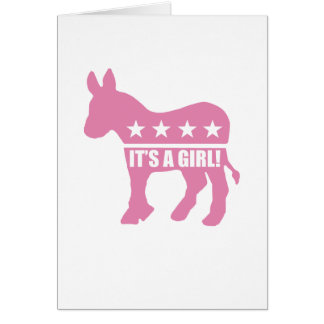democrat it's a girl greeting cards