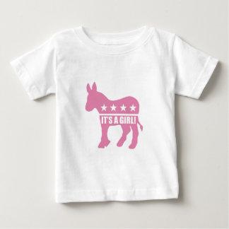 democrat it's a girl toddler t-shirt