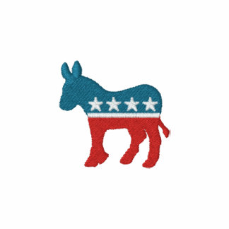 Democrat Logo (Embroidered) Embroidered Hoody