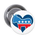 Democrat Love Pin