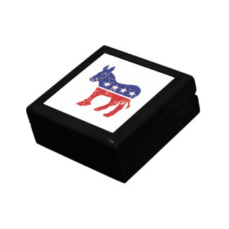 Democrat Original Donkey Distressed Tan Gift Box
