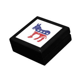 Democrat Original Donkey Distressed Trinket Boxes