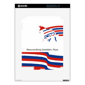 Democrat Party Candidate Red White and Blue Skin For The iPad 2