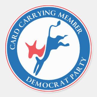 Democrat Party Lapel Sticker