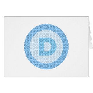 Democrat Party Logo Card