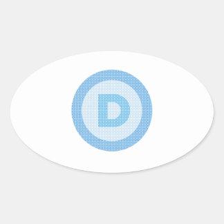 Democrat Party Logo Oval Sticker