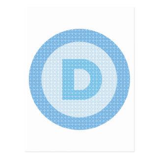 Democrat Party Logo Postcard
