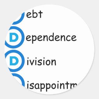 Democrat Party Logo Problems Classic Round Sticker