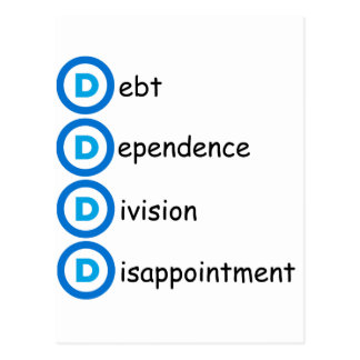 Democrat Party Logo Problems Postcard