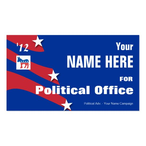 Democrat - Political Election Campaign Business Card Template