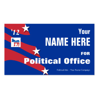 Democrat - Political Election Campaign Double-Sided Standard Business Cards (Pack Of 100)