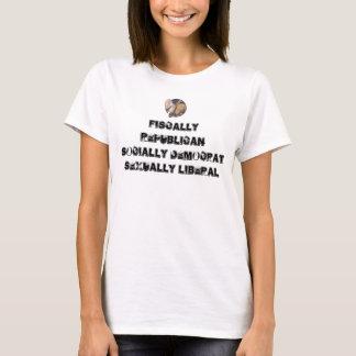 democrat_republican, Fiscally Republican Social... T-Shirt