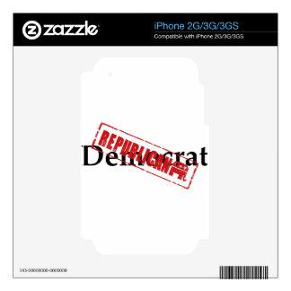 Democrat REPUBLICAN iPhone 3GS Decals