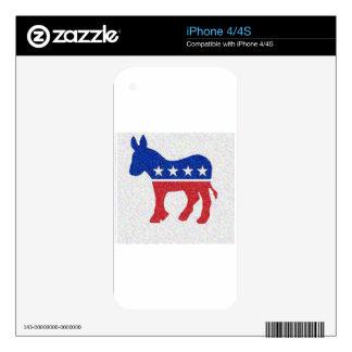 DEMOCRAT SKINS FOR iPhone 4S