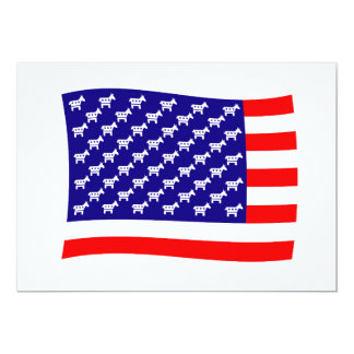 Democrat Stars and Stripes Flag Card