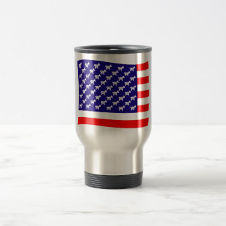 Democrat Stars and Stripes Flag Travel Mug