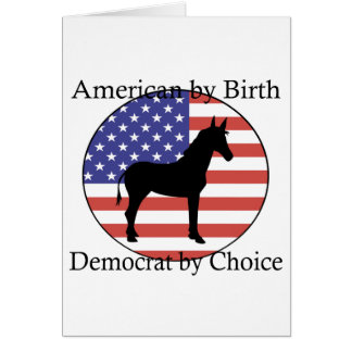 Democrat T-shirts and Gifts. Card