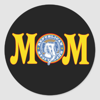 Democrat T-shirts and Gifts For Mom Classic Round Sticker