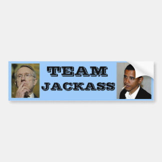 Democrat Team Jackass Bumper Sticker