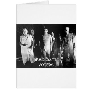 democrat voter fraud greeting card