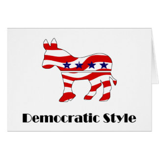 Democrat with Style (2) Card