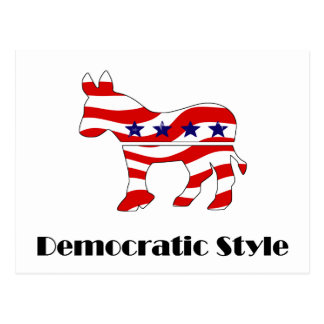 Democrat with Style (2) Postcard