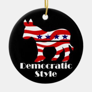 Democrat with Style Ceramic Ornament