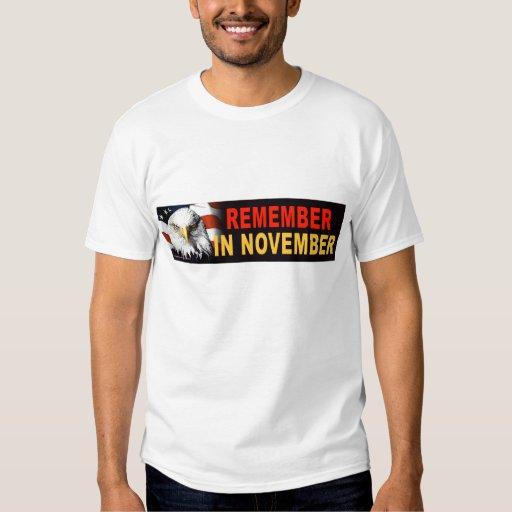 """Demócrata anti """"recuerda en noviembre"""" la camiseta playeras"""