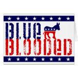 demócrata blooded azul tarjeta