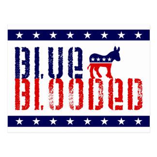 demócrata blooded azul tarjeta postal