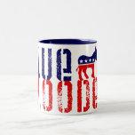 demócrata blooded azul tazas de café