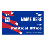 Demócrata - campaña electoral de política tarjetas de visita