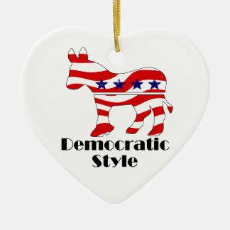 Demócrata con el estilo (2) ornamento de navidad