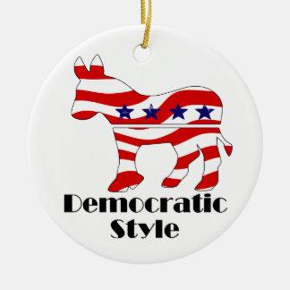 Demócrata con el estilo (2) ornamentos de reyes