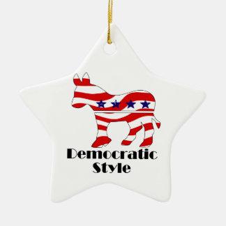 Demócrata con el estilo (2) adorno