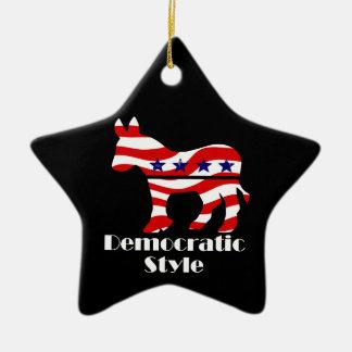 Demócrata con estilo adornos