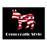 Demócrata con estilo postal
