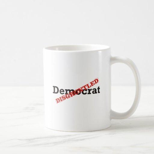Demócrata/contrariedad Tazas