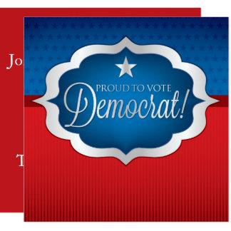 """Demócrata Invitación 5.25"""" X 5.25"""""""