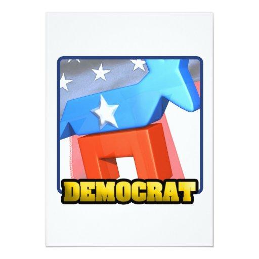 """Demócrata Invitación 5"""" X 7"""""""
