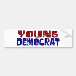 Demócrata joven pegatina para auto