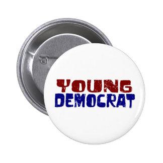 Demócrata joven pin redondo de 2 pulgadas