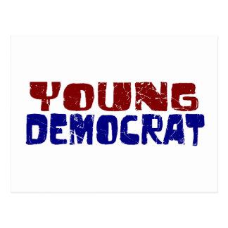 Demócrata joven postales