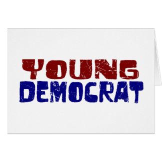 Demócrata joven tarjeta de felicitación