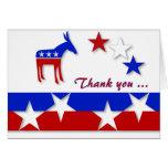 Demócrata le agradece cardar tarjetas